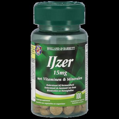 Holland & Barrett IJzer Met Vitaminen En Mineralen (100 Tabletten)
