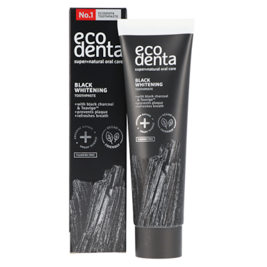 Ecodenta Tandpasta Whitening Met Black Charcoal