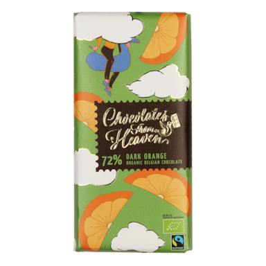 Chocolates From Heaven Puur Sinaasappel 72% Cacao Bio