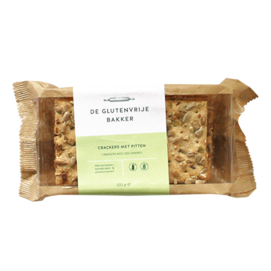 De Glutenvrije Bakker Pompoenpitten Crackers Glutenvrij