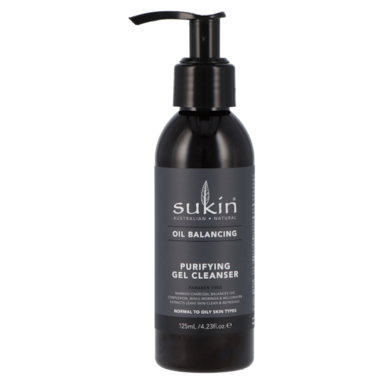 Sukin Oil Balancing Purifying Gel Cleanser Charcoal
