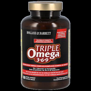 Holland & Barrett Triple Omega 3-6-9 1200mg 60 Capsules