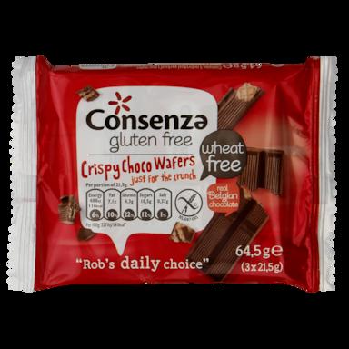 Consenza Crispy Choco Wafers Glutenvrij
