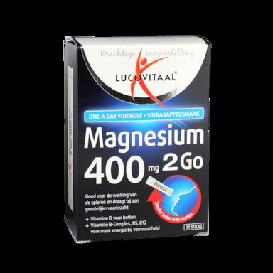 Lucovitaal Magnesium 2Go, 400mg (20 Sticks)