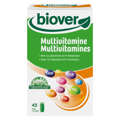 Biover Multi vitamines 45 comprimés