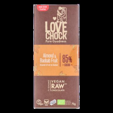 Lovechock Almond & Baobab 85% Cacao Bio (70gr)