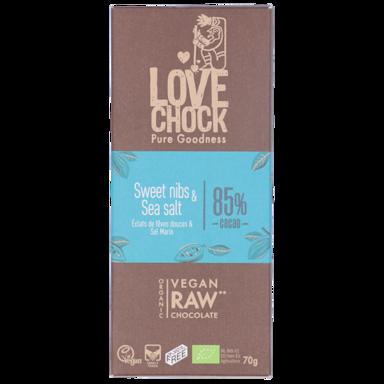 Lovechock Sweet Nibs & Sea Salt 85% Cacao Bio (70gr)