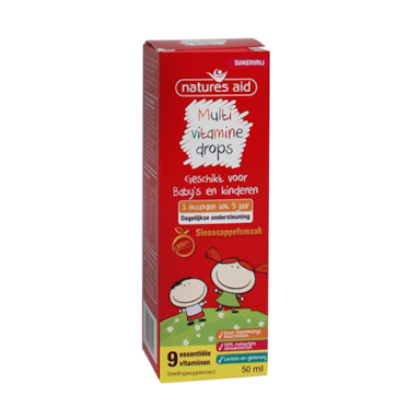 Natures Aid Multivitamine Drops Baby's & Kids (50ml)