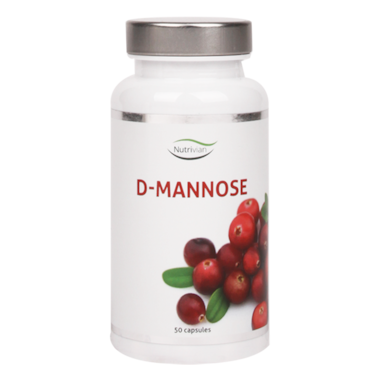 Nutrivian D-Mannose, 500mg (50 Capsules)