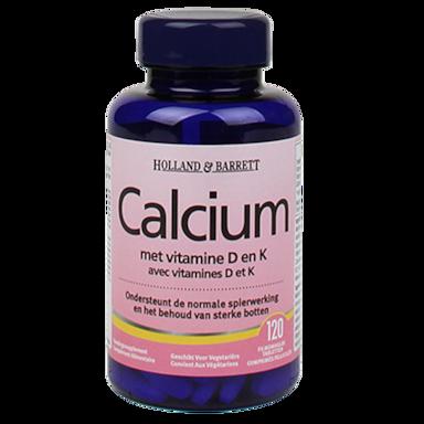Holland & Barrett Calcium aux vitamines D et K 120 Capsules