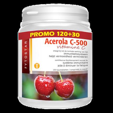 Fytostar Acerola Vitamine C, 500mg (150 Tabletten)