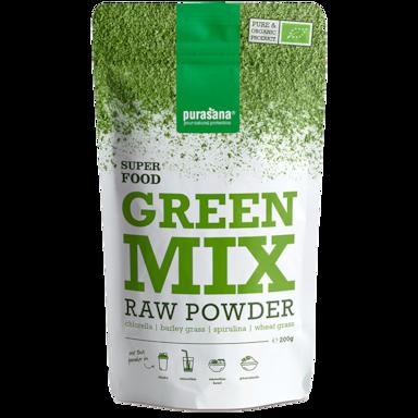 Purasana Raw Green Mix Poeder Bio (200gr)