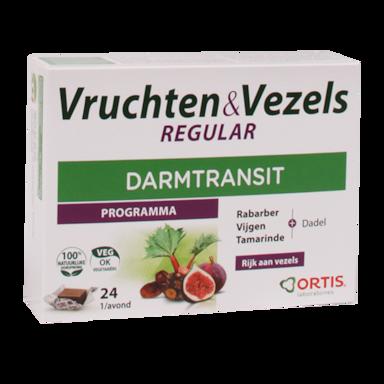 Ortis Vruchten & Vezels Regular Darmtransit (24 Blokjes)