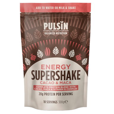 Pulsin Supershake Energy Blend Cacao et Maca (300g)