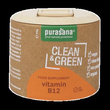 Purasana Clean & Green Vitamine B12 Bio (90 Capsules)