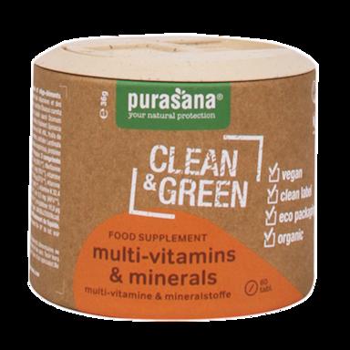Purasana Clean & Green Multivitamines & Minéraux Bio (60 Comprimés )