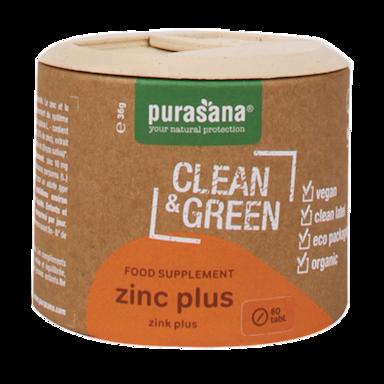 Purasana Clean & Green Zink Plus Bio (60 Tabletten)
