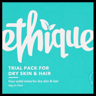 Ethique Proefpakket Voor Droog Haar En Huid  (4 Stuks)