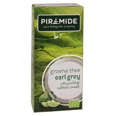 Piramide Groene Thee Earl Grey Bio (20 Theezakjes)