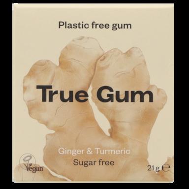 True Gum Ginger & Turmeric Kauwgom