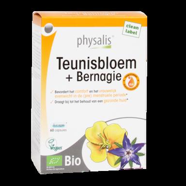Physalis Teunisbloem + Bernagie Bio (60 Capsules)