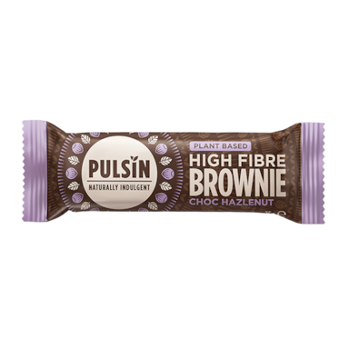 Pulsin High Fibre Brownie Choc Hazlenut (35g)