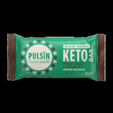 Pulsin Mint Chocolate & Peanut Keto Bar (50 gram)