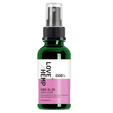Lovehemp CBD Olie Verstuiver Framboos 2% (30ml)