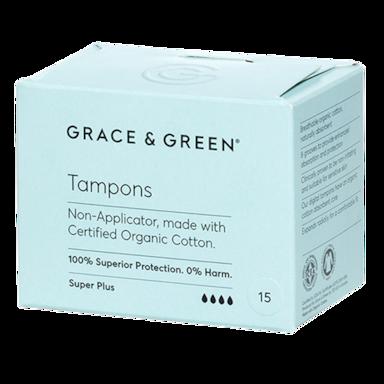 Grace & Green Tampons Super Plus (15 stuks)