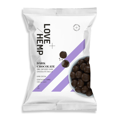 Lovehemp Pure Chocolade Met CBD (50 gram)