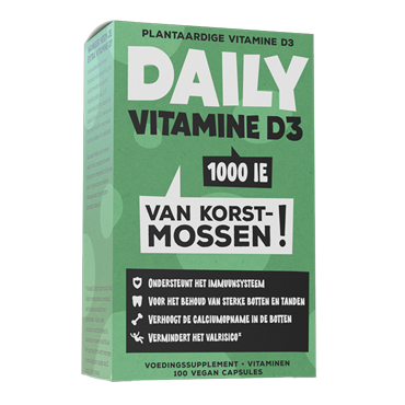 Daily Supplements Daily Vitamine D3 Korstmos (100 Capsules)