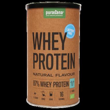 Purasana Whey Protein Natural Lactosevrij Bio (400gr)