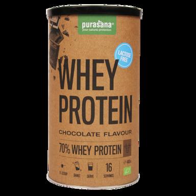 Purasana Whey Protein Chocolate Lactosevrij Bio (400gr)