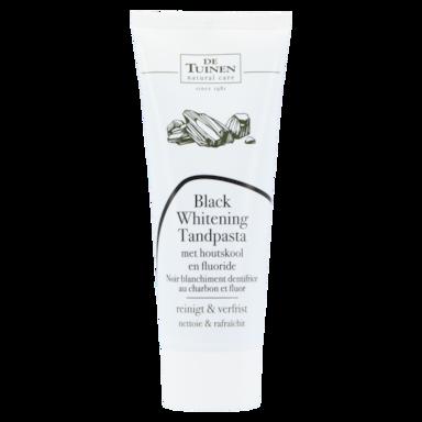 De Tuinen Black Whitening Tandpasta Met Houtskool En Fluoride (75ml)