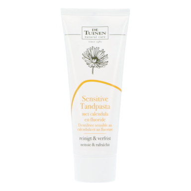 De Tuinen Sensitive Tandpasta Met Calendula En Fluoride (75ml)