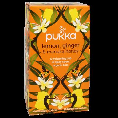 Pukka Lemon Ginger Manuka Bio (20 Theezakjes)