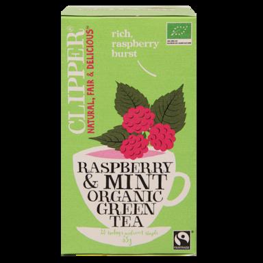 Clipper Raspberry & Mint Organic Green Tea Bio (20 Theezakjes)