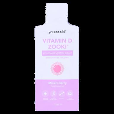 YourZooki Liposomal Vitamin D3 3000IU & K2 100UG Mixed Berry Flavour 15ml (1 zakje)