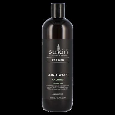 Sukin For Men Nettoyant 3-en -1 calmant (500 ml)