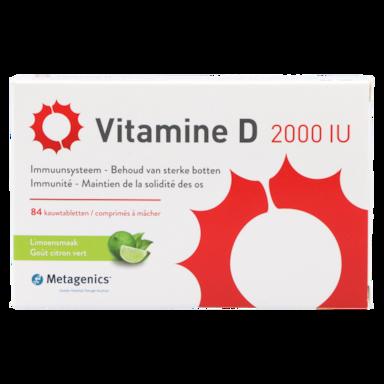 Metagenics Vitamine D 2000 i.e.(84 kauwtabletten)