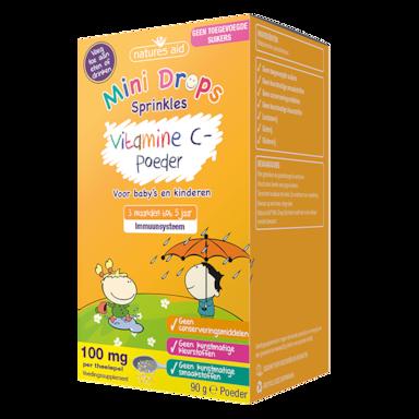 Natures Aid Mini Drops Sprinkles Vitamine C-poeder (90gr)