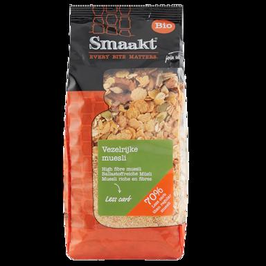 Smaakt Less Carb Muesli riche en fibres Bio (500 g)