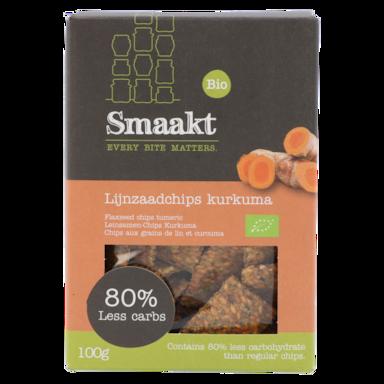 Smaakt Less Chips aux grains de lin et curcuma Bio (100 g)