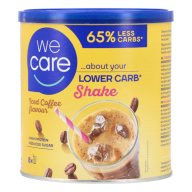 WeCare Lower Carb Shake Iced Coffee flavour (240gr)