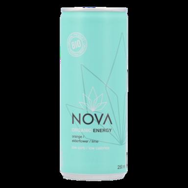 Nova Organic Energy Orange, fleur de sureau et citron vert (250 ml)