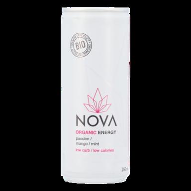 Nova Organic Energy Passion, mangue et menthe (250 ml)