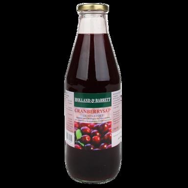 Holland & Barrett Cranberrysap Lichtgezoet (750ml)