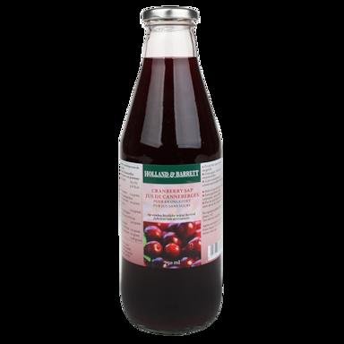 Holland & Barrett Cranberry Sap Ongezoet (750ml)