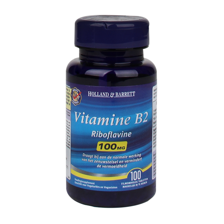 Holland & Barrett Vitamine B2, 100mg (100 Tabletten)