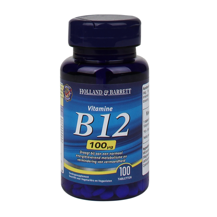 Holland & Barrett Vitamine B12, 100mcg (100 Tabletten)